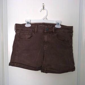 Mauve Khaki American Eagle Shorts
